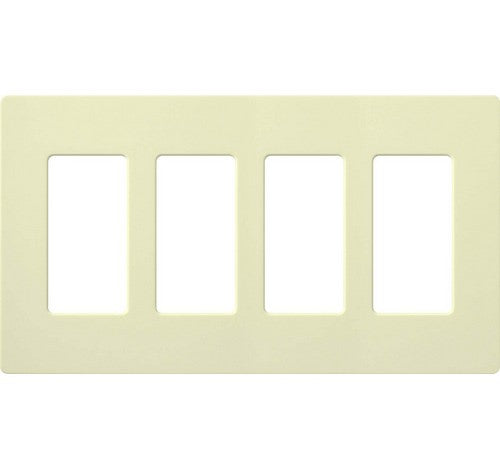 Lutron CW-4-XX Designer Claro Style Four Gang Wall Plate LA - BuyRite Electric