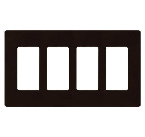 Lutron CW-4-XX Designer Claro Style Four Gang Wall Plate BR - BuyRite Electric
