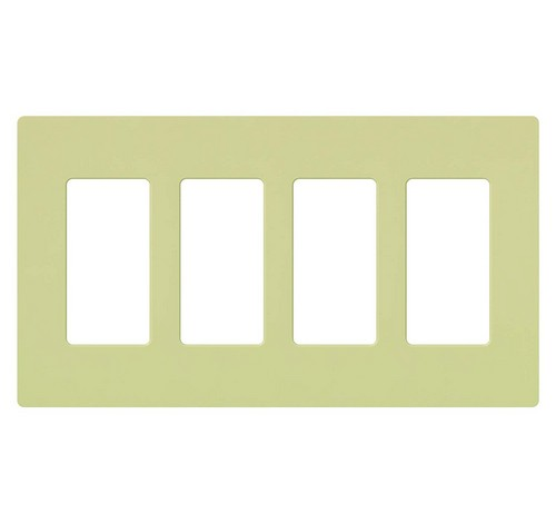 Lutron CW-4-XX Designer Claro Style Four Gang Wall Plate IV - BuyRite Electric