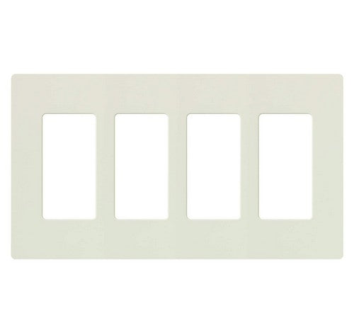Lutron CW-4-XX Designer Claro Style Four Gang Wall Plate AL - BuyRite Electric