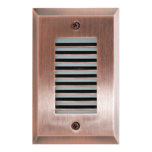 ELCO Lighting ELST9240CP Mini LED Step Light with Angled Louver 2W 4000K 1000 lm 12V Copper Finish | BuyRite Electric