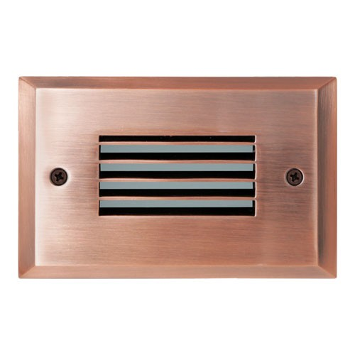 ELCO Lighting ELST9730CP Mini LED Step Light with Angled Louver 2W 3000K 120V Copper Finish | BuyRite Electric
