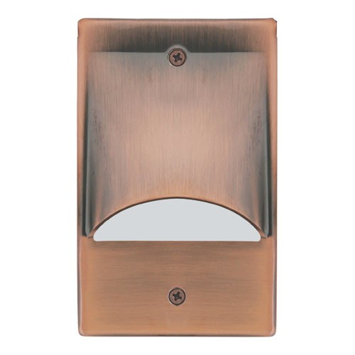 ELCO Lighting ELST9840CP Mini LED Step Light with Scoop 2W 4000K 12V Copper Finish | BuyRite Electric