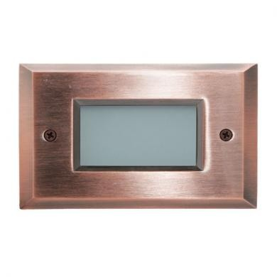 ELCO Lighting ELST9140CP Mini LED Step Light with Open Faceplate 2W 4000K 12V Copper Finish | BuyRite Electric