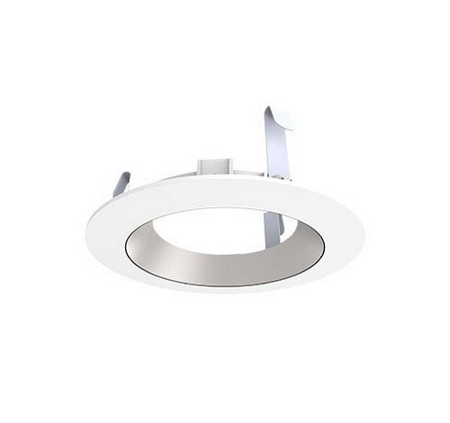 "DMF Lighting DRD2TR4SSW 4"" Round Smooth Silver & White Recessed Lighting Trim - BuyRite Electric"