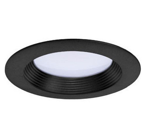 "DMF Lighting DRD2TR4B 4"" Round Ribbed Baffle Twist and Lock Lighting Trim with White Finish - BuyRite Electric"