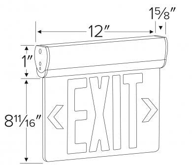 ELCO Lighting EDGLIT1 LED Edge Lit Exit Sign Letters, Single Face | BuyRite Electric