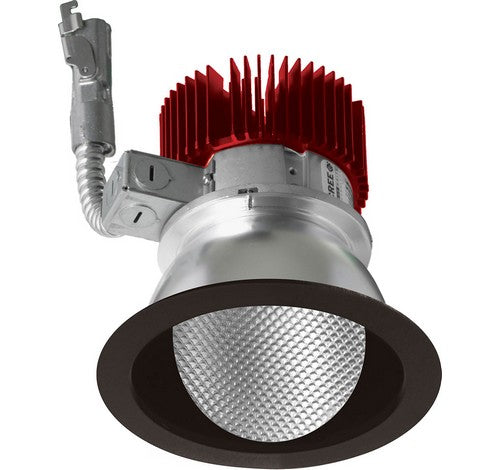 ELCO Lighting E411L1235HW 4 Inch LED Light Engine with Wall Wash Trim Haze with White Ring Finish 3000K 1250 lm