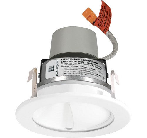 ELCO Lighting E411R0840H LED 4 inch Recessed Lighting Module & Driver with Wall Wash Reflector Trim Haze with White Ring Finish 4000K 120V