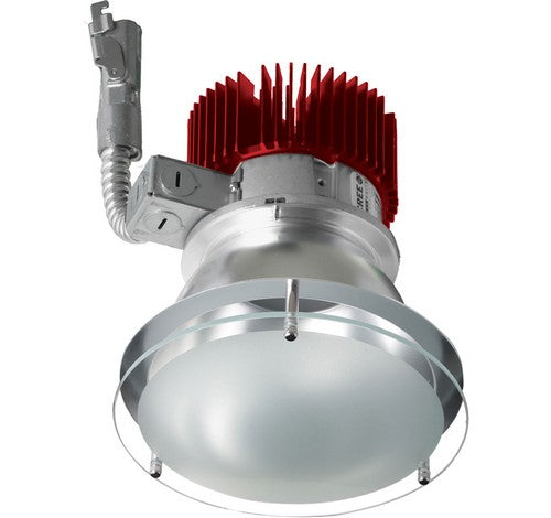 ELCO Lighting E412L2040HW 4 Inch LED Light Engine with Drop Glass Trim Haze with White Ring Finish 4000K 2000 lm