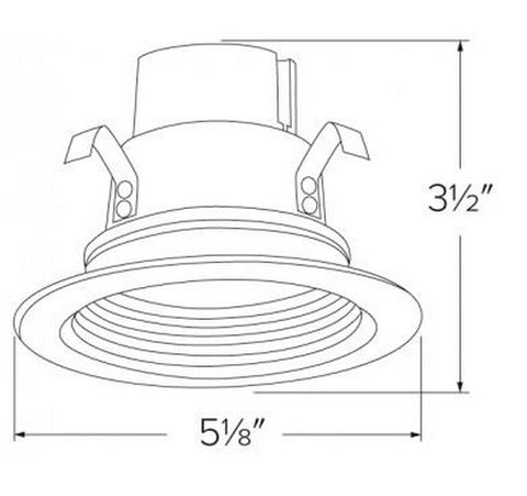 ELCO Lighting EL14027W 10W 4 Inch LED Bi-Pin Retrofit Insert Baffle Trims White Finish 2700K