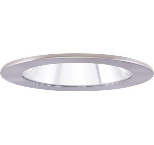 "ELCO Lighting EL1411N 4"" Adjustable Shower Trim with Clear Reflector and Lens Trim Nickel"
