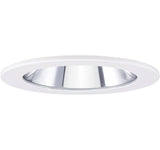 "ELCO Lighting EL1411W 4"" Adjustable Shower Trim with Clear Reflector and Lens Trim White"