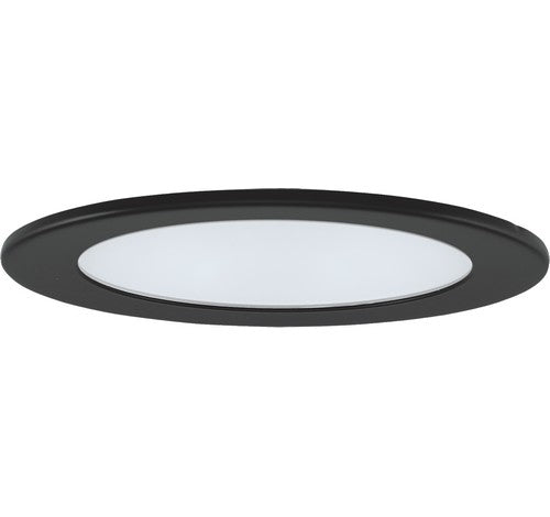 "ELCO Lighting EL1412B 4"" Adjustable Shower Trim with Clear Reflector and Frosted Lens Trim Black"