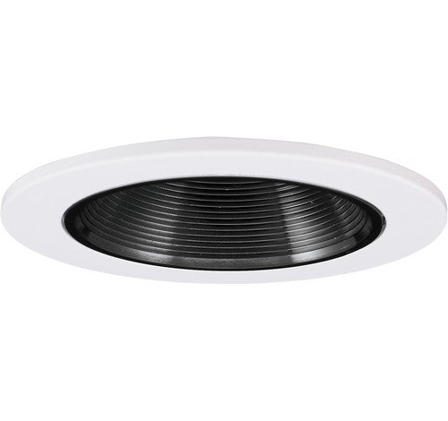 "ELCO Lighting EL1424B 4"" Adjustable Wall Wash Baffle Trim Black with White Ring"