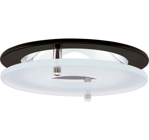 "ELCO Lighting EL1426BZ 4"" Chrome Reflector with Suspended Frosted Glass Trim Bronze Ring"