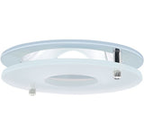 "ELCO Lighting EL1426C 4"" Chrome Reflector with Suspended Frosted Glass Trim Chrome Ring"