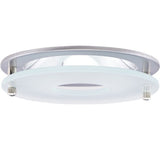 "ELCO Lighting EL1426N 4"" Chrome Reflector with Suspended Frosted Glass Trim Nickel Ring"