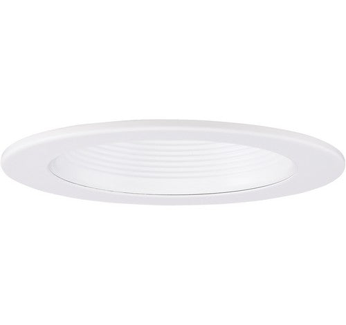 "ELCO Lighting EL1493MW 4"" Adjustable Metal Step Baffle Trim White"
