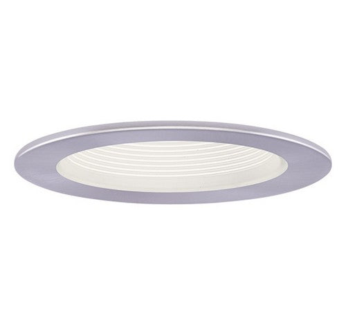 "ELCO Lighting EL1493WN 4"" Adjustable Step Baffle Trim White with Nickel Ring"