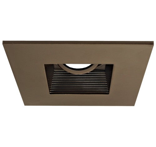 "ELCO Lighting EL2484BZ 4"" Die-Cast Aluminum Square Adjustable Baffle Trim All Bronze"