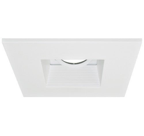 "ELCO Lighting EL2484W 4"" Die-Cast Aluminum Square Adjustable Baffle Trim All White"