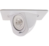 "ELCO Lighting EL2497W 4"" Square Pull Down Trim White"