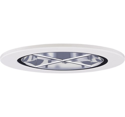 "ELCO Lighting EL2644C 3"" Reflector with Cross Blade Trim Chrome with White Ring"