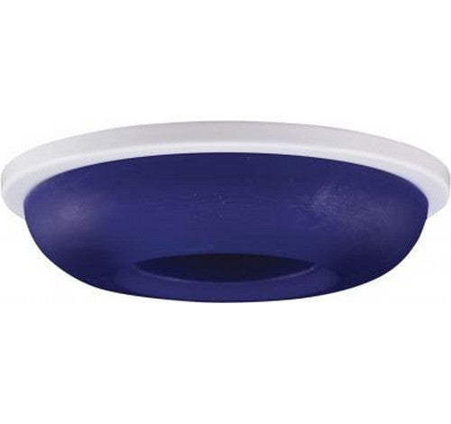 "ELCO Lighting EL2652BL 3"" Die-Cast Round Frosted Glass Trim Blue with White Ring"