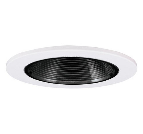 "ELCO Lighting EL2693B 3"" Die-Cast Adjustable Baffle Trim Black with White Ring"