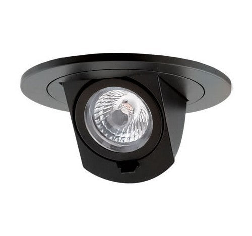 ELCO Lighting EL39730B 10.8W Black 3 Inch Round LED Adjustable Pull Down Insert Black Finish 3000K