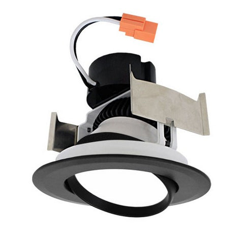 "ELCO Lighting EL41430B Black 4"" LED Insert Adjustable Gimbal Recessed Lighting Trim - BuyRite Electric"