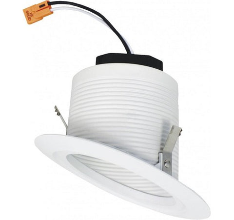 "ELCO Lighting EL42330W 12W 4"" Sloped Ceiling LED Baffle Insert 3000K, 900lm"