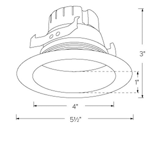ELCO Lighting EL49540DHW 12W 4 Inch 0-10V LED Inserts Hazel with White Ring Finish 4000K