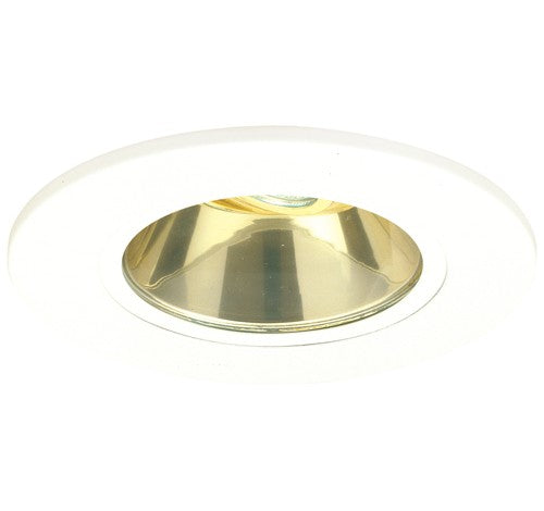 "ELCO Lighting EL5411G 5"" Shower Trim with Adjustable Reflector and Clear Lens Gold with White Ring"