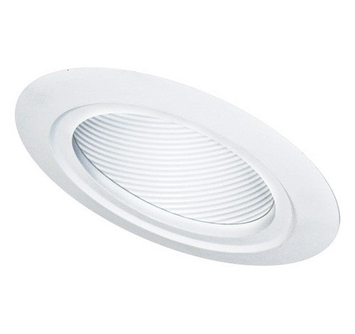 "ELCO Lighting EL560W 5"" Sloped Baffle with Adjustable Gimbal Ring Trim White"