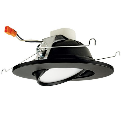 ELCO Lighting EL61330B 17W Black 6 Inch Adjustable LED Gimbal Insert Recessed Lighting Trim 3000K