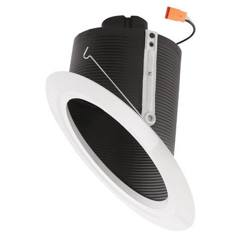 "ELCO Lighting EL76330B 15W 6"" Super Sloped Ceiling LED Baffle Inserts 3000K, 1050lm Black with White Ring"