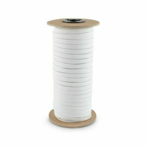 "Knitted Elastic 1/4"" Wide 288 Yard Roll White"