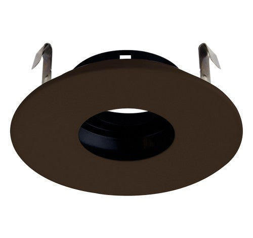 ELCO Lighting ELK4127BZ Pex 4 Inch Round Pinhole die-cast Adjustable trims with twist-&-lock system Bronze Finish