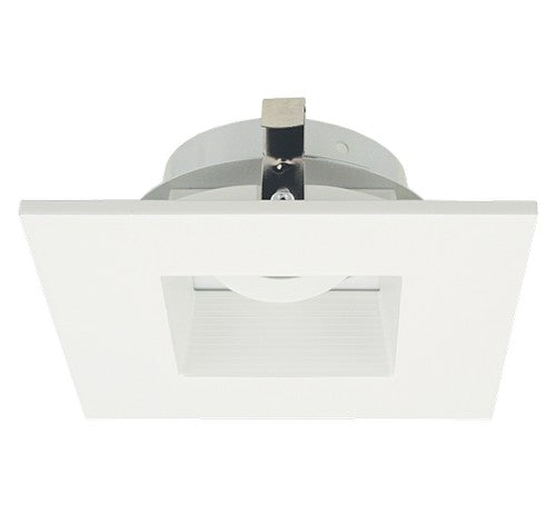 ELCO Lighting ELK4284W Pex™ 4 Inch Square Adjustable Baffle die-cast trims with twist-&-lock system - BuyRite Electric