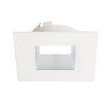 "ELCO Lighting ELL4641HW 4"" Diecast Square Reflector Flexa™ Trim Haze with White"