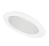"ELCO Lighting ELS531KC 5"" Sloped Adjustable Reflector with Socket Bracket Trim Clear with White Ring"