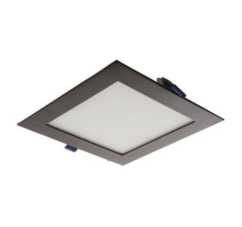 "ELCO Lighting ERT441XXBZ Bronze LED Interior / Exterior 4"" Square Ultra Slim Panel Overhead Lighting 120V - BuyRite Electric"