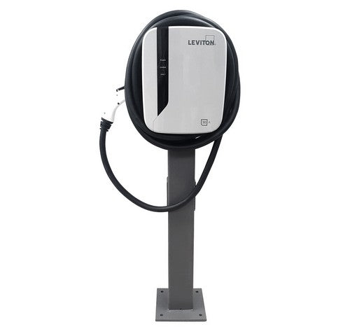 Leviton EVP30  30A EV Charging Station Pedestal System With 18' charging cable & Pedestal Mounting Pole and Base 208~240V AC - BuyRite Electric