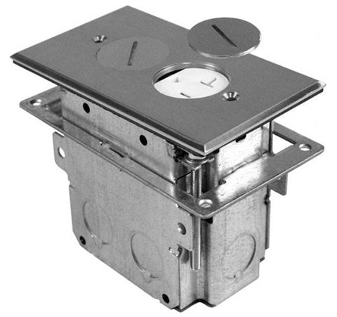 Orbit Floor Box Roung Plug Type With Duplex Receptacle Adjustable Box 125V AC - BuyRite Electric