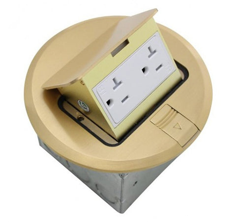 Orbit Floor Box Pop Up With Duplex Receptacle 125V AC - BuyRite Electric