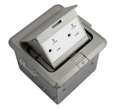 Orbit Floor Box Pop-up With Duplex Receptacle 125V AC - BuyRite Electric