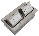 Orbit Stainless Steel Floor Box Pop-up With 2 Duplex Receptacle 125V AC - BuyRite Electric