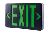 ELCO Lighting EELEDB LED Exit Sign, Green or Red Letters, Single/Double Face Configurable Green Letters, Black Housing, Battery Backup | BuyRite Electric
